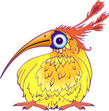 Funny cartoon bird Stock Photo