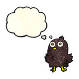 Funny cartoon bird with thought bubble Royalty Free Stock Image