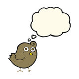 Funny cartoon bird with thought bubble Royalty Free Stock Photos