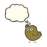 Funny cartoon bird with thought bubble Stock Photography