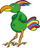 Funny cartoon bird Stock Image