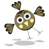 Funny Cartoon Bird Vector Illustration Stock Photography