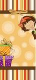 Funny cartoon birthday card vector illustration