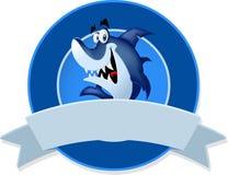 Funny cartoon blue shark. Stock Photography