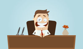 Funny cartoon boss Stock Images