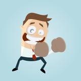 Funny cartoon boxer vector illustration
