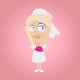 Funny cartoon bride Stock Photos