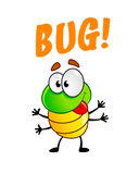 Funny cartoon bug. Vector illustration of cute cartoon beetle Royalty Free Stock Photos