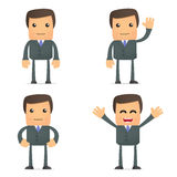 Funny cartoon businessman Royalty Free Stock Photography