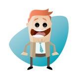 Funny cartoon businessman. Illustration of a funny cartoon businessman Royalty Free Stock Photo