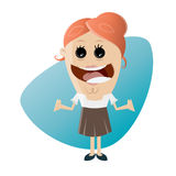 Funny cartoon businesswoman. Illustration of a funny cartoon businesswoman Stock Photography