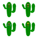 Funny cartoon cacti Royalty Free Stock Photos