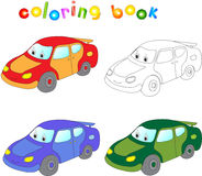 Funny cartoon car. Coloring book for children Royalty Free Stock Images