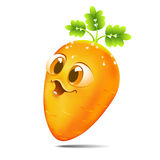 Funny cartoon carrot Stock Image
