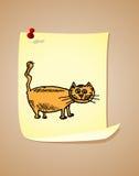 Funny cartoon cat Stock Images