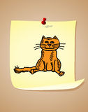 Funny cartoon cat Stock Image