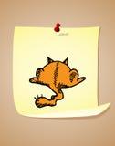 Funny cartoon cat Stock Photos