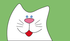 Funny cartoon cat. Flat style vector illustration. Royalty Free Stock Image