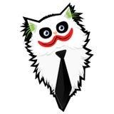 Funny cartoon Cat-Joker. Funny caricature cartoon Cat-Joker vector illustration
