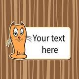 Funny cartoon cat Stock Image