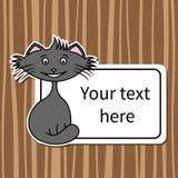Funny cartoon cat Stock Photo