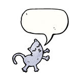Funny cartoon cat with speech bubble Royalty Free Stock Images