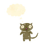 Funny cartoon cat with thought bubble Stock Photography