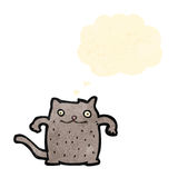 Funny cartoon cat with thought bubble Royalty Free Stock Image