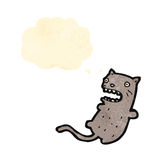 Funny cartoon cat with thought bubble Stock Image