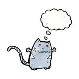 Funny cartoon cat with thought bubble Stock Photos