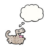 Funny cartoon cat with thought bubble Stock Images