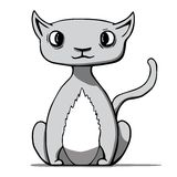 Funny cartoon cat. Vector illustration. This is file of EPS10 format Royalty Free Stock Photos