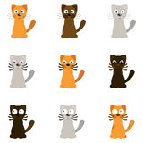 Funny cartoon cats, vector Royalty Free Stock Photos