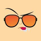 Funny Cartoon Character Face Illustration Editable Stock Photo