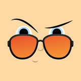Funny Cartoon Character Face Illustration Editable Royalty Free Stock Image