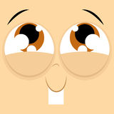 Funny Cartoon Character Face Illustration Editable Stock Image