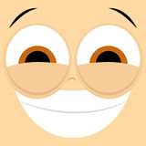 Funny Cartoon Character Face Illustration Editable Royalty Free Stock Images