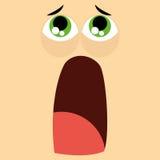 Funny Cartoon Character Face Illustration Editable Stock Photos