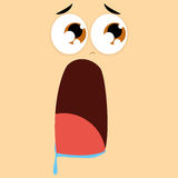 Funny Cartoon Character Face Illustration Editable Stock Images