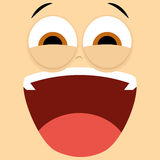 Funny Cartoon Character Face Illustration Editable Stock Photography