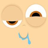 Funny Cartoon Character Face Illustration Editable Royalty Free Stock Photo