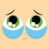 Funny Cartoon Character Face Illustration Editable Stock Image