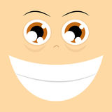 Funny Cartoon Character Face Illustration Editable Royalty Free Stock Photography