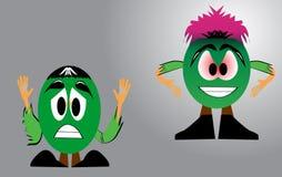 Funny cartoon characters Stock Photo