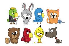 Funny cartoon characters Royalty Free Stock Images