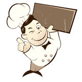 Funny cartoon chef Royalty Free Stock Photos