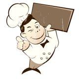 Funny cartoon chef Royalty Free Stock Photos