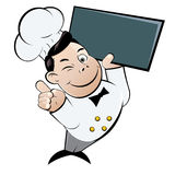 Funny cartoon chef Stock Photography