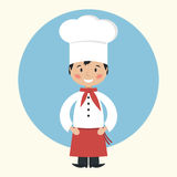 Funny cartoon chef cook Royalty Free Stock Images