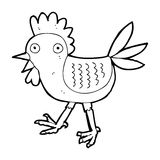funny cartoon chicken Royalty Free Stock Photography